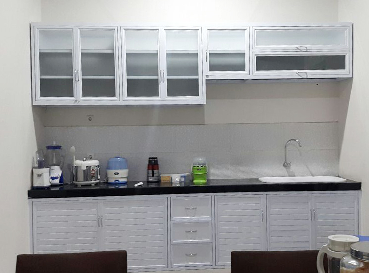 Kitchen set makmur aluminium for Harga kitchen set aluminium